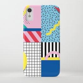 Memphis Party iPhone Case