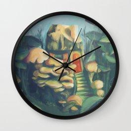 Mushroom House Wall Clock