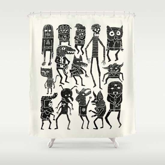 Bump in the Night Shower Curtain