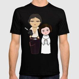 Kokeshis H Solo and Leia T-shirt