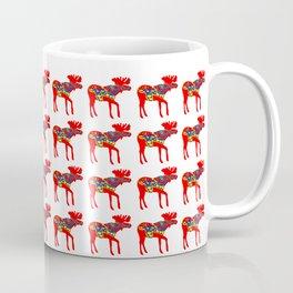 Graphic Swedish Dala Moose Multiples Coffee Mug
