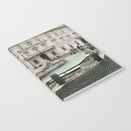 3 legged man in Piazza Navona Rome Italy Notebook