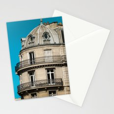Parisian building architecture Stationery Cards