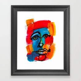 You Have to Face Yourself First Framed Art Print