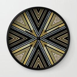 Glam Cross Star Wall Clock