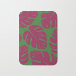 Monstera Leaf Print 4 Bath Mat