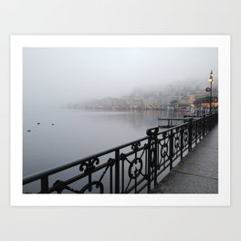 Lugano Waterfront Art Print