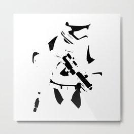 First Order Stormtrooper Minimalist  Metal Print