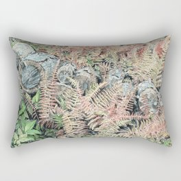 Colored ferns. Rectangular Pillow