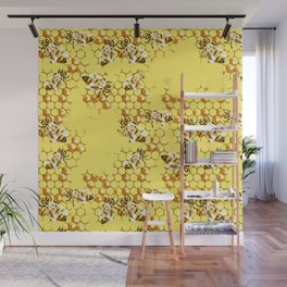 Honey Hive Wall Mural