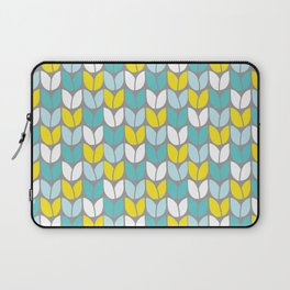 Tulip Knit (Aqua Gray Yellow) Laptop Sleeve