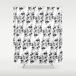 The Chinese Rose & The Tree Frog Shower Curtain