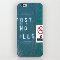 Post No Bills - No Smoking iPhone & iPod Skin
