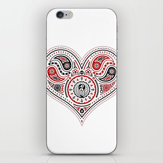 83 Drops - Hearts (Red & Black) iPhone & iPod Skin