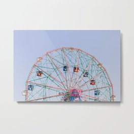 The Wonder Wheel Metal Print