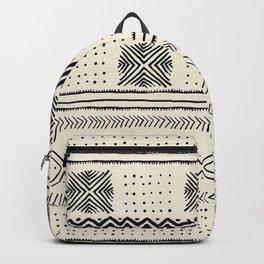Mud Cloth Geometric Stripe in Cream Backpack