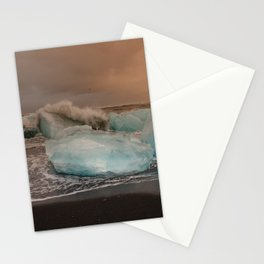 Sunset at the Glacier Lagoon Stationery Cards