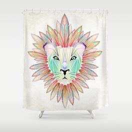 lion colorful Shower Curtain