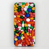 pills iPhone & iPod Skins featuring PILLS,PILLS,PILLS by Asano Kitamura