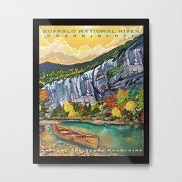 Buffalo National River Art by Sarah Bliss Rasul Metal Print