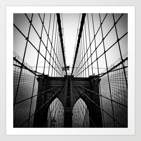 Broolyn Bridge Art Print