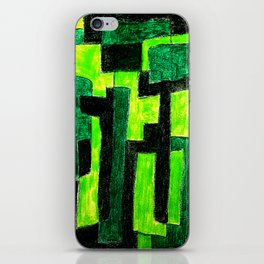 Three Green Puzzle iPhone Skin