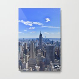 City skyline and Empire State Building Metal Print