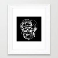 jay fleck Framed Art Prints featuring JAY by UNDEAD MISTER / MRCLV