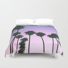 Palm Tree Purple Sunset Duvet Cover