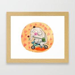 Elephant in love Framed Art Print