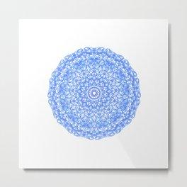 Mandala 13 / 1 blue Lapislazuli Metal Print