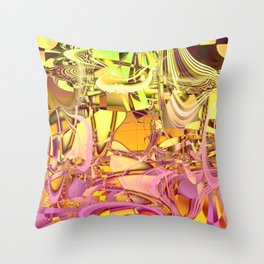 Mad world. Throw Pillow