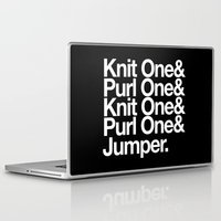 knitting Laptop & iPad Skins featuring Knitting by Outside In