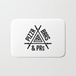 Pizza, Bars and PRs Fitness Triangle v2 Bath Mat
