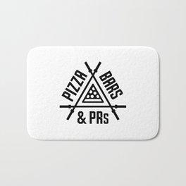 Pizza, Bars and PRs Fitness Triangle v2 Bath Mat