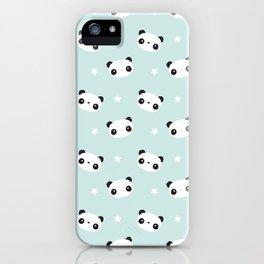 Panda in love iPhone Case