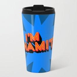 I'm Dynamite (dark blue) Travel Mug