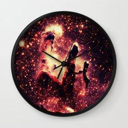 galaxy : Copper Pillars of Creation Nebula Wall Clock
