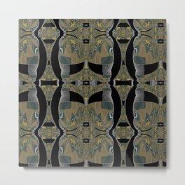 Solemn Mandalic Pattern Metal Print