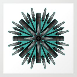 RotaryMechDala Art Print
