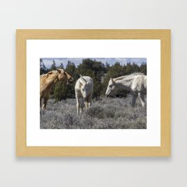 Getting an Earful from Dad Framed Art Print