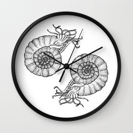 Ammonites Wall Clock
