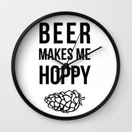 Beer Makes Me Hoppy Wall Clock