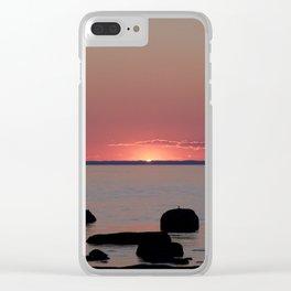 Last Sliver of Sun Light Clear iPhone Case