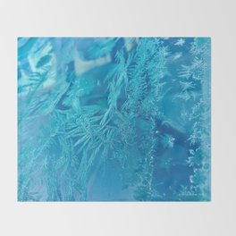 Hoar Frost Ice Crystals Throw Blanket