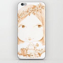 Monochrome Love: Orange iPhone Skin