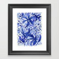 Blue flowers. Framed Art Print