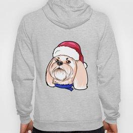 Shih Tzu Dog Christmas Hat Present Hoody