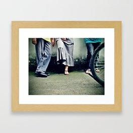 People are Strange Framed Art Print