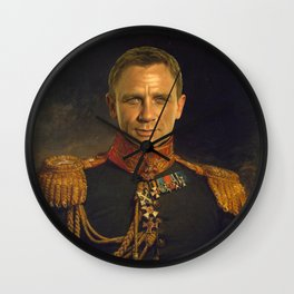 Daniel Craig - replaceface Wall Clock